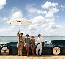 Bluebird V on Daytona Beach by Ordinata