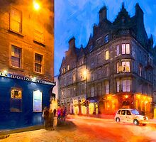 Standing At The World's End In Edinburgh by Mark Tisdale