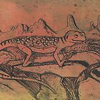 Happy Little Collared Lizard by SnakeArtist