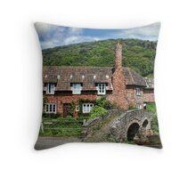 The Packhorse Bridge, Allerford, Somerset Throw Pillow