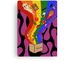 Internet Box Poster Canvas Print