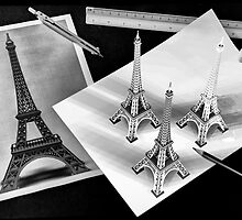 Eiffel tower drawing by andreisky