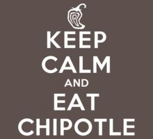 Keep Calm and Eat Chipotle (Pepper) DS Kids Clothes