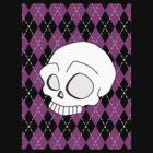 Ruby's Pink Argyle Skull by dotstarstudios