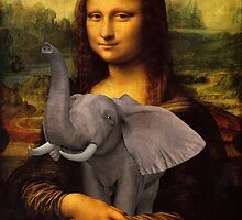Mona Lisa With Elephant by Mythos57