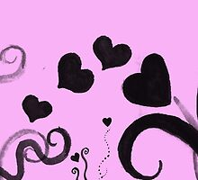 Hearts and Swirls and Ink and Pink by sitnica
