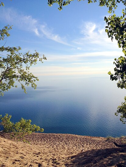 Majestic View from Sleeping Bear Dunes National Lakeshore by Debbie  Maglothin