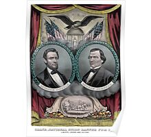 Abraham Lincoln and Andrew Johnson Election Banner 1864 Poster