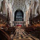 The Choir, York Minster. by John Dalkin