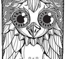big eyed owl by carlson123