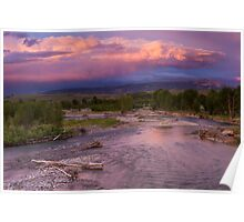 Gros Ventre River Sunset Poster