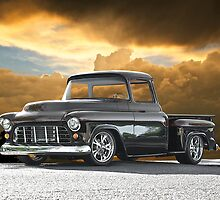 1956 Chevrolet Stepside Pick-Up Truck III by DaveKoontz