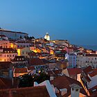 Lisbon City Lights Panoramic Alfama View by kirilart
