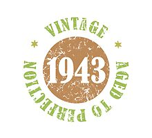 1943 Birthday Vintage Seal by thepixelgarden
