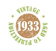 1933 Birthday Vintage Seal by thepixelgarden