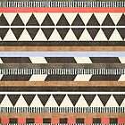 Aztec Brown Pattern by Paulo Capdeville