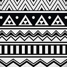 Aztec Black and White Pattern by Paulo Capdeville