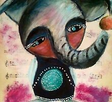 Musical Elephant by Lalapaints