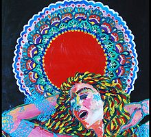 Original Acrylic Painting (A Dance For Sahasrara) by Christina Martine