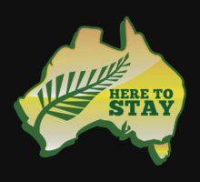 HERE TO STAY kiwi New Zealander in Australia map by jazzydevil