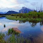 Dawn over Mt Rundle, Banff NP by Harry Oldmeadow