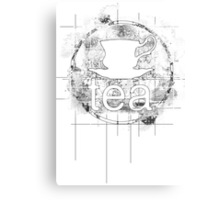Tea Stencil Canvas Print