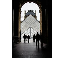 Going to the Louvre Photographic Print