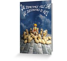 Surrounded by nuts - female Greeting Card