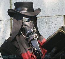 Bedlam Massacre plague doctor mask by Jesse Lindsay 2013 by jesse lindsay