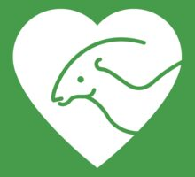 Dinosaur heart: Parasaurolophus Kids Clothes