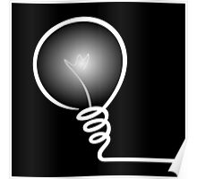 Concept of IDEA with Light bulb Poster