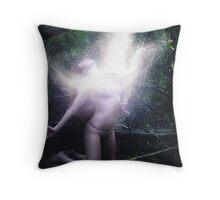 White Hot Bird Throw Pillow