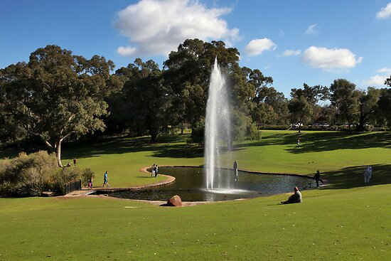 Kings Park Fountain - Perth by Mark Ingram Photography