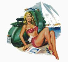 Vespa Pinup Girl by Scooterist