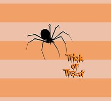 Halloween Spider Trick or Treat Black Orange by sitnica