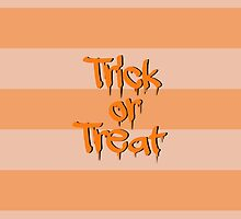 Halloween Stripes Trick or Treat Black Orange by sitnica