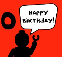 Happy 10th Birthday Greeting Card by Chillee Wilson from Customize My Minifig by ChilleeW
