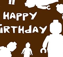 Happy Birthday Greeting Card with Minifigs by Chillee Wilson from Customize My Minifig by ChilleeW
