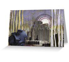 Through Ragged Curtains Greeting Card