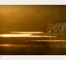 Golden Light, Sheepscot, Maine by Dave  Higgins