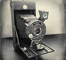 Ensign Greyhound Vintage Camera by Janet Clark