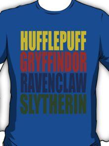 Hogwarts Houses Typography T-Shirt