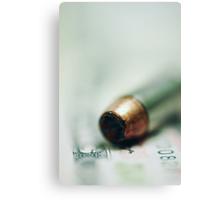 One Bullet Left Canvas Print