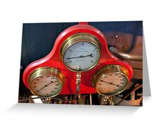 Gauges On Red Greeting Card