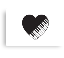 Piano Heart Canvas Print