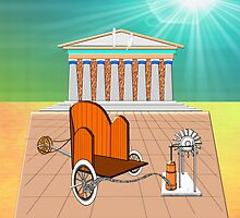 1st century Greek Pumping Station iPad case by Dennis Melling