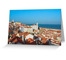 View of Igreja de Santo Estevao in Alfama Lisbon Greeting Card