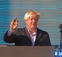 Boris Johnson Queen Elizabeth Olympic Park by Keith Larby