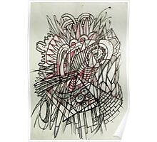 Spikey abstraction Poster