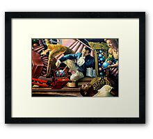 Put the Blue Ball in the Red Basket Framed Print